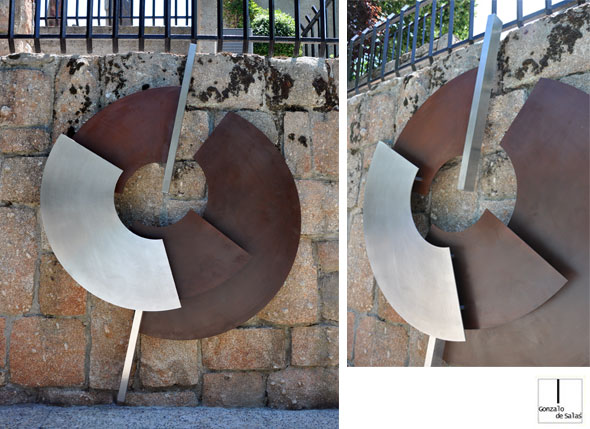 Sculpture relief Cercles II
