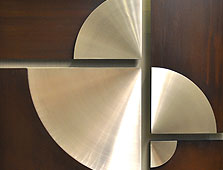 Wall sculpture Fragmentation - Corten steel and satin stainless steel