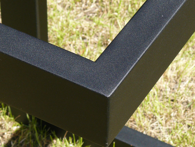 Lacquered iron in Textured Matte Black
