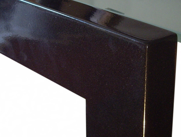 Lacquered iron in Metallized Black